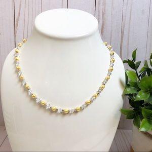 Jewelry - Swarovski Crystal & Yellow Pearl Beaded Necklace